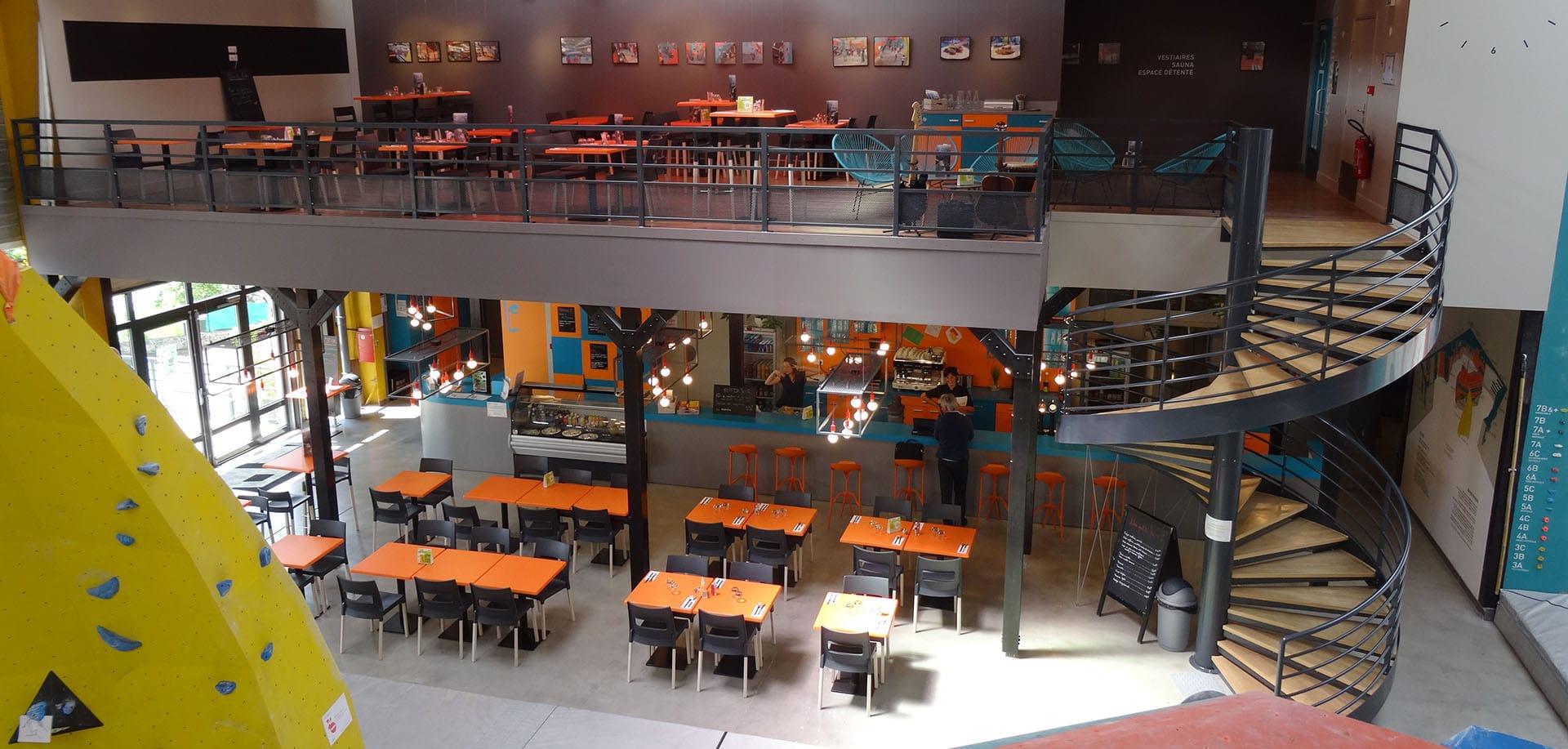 restaurant block 39 out salle d 39 escalade restaurant rennes. Black Bedroom Furniture Sets. Home Design Ideas