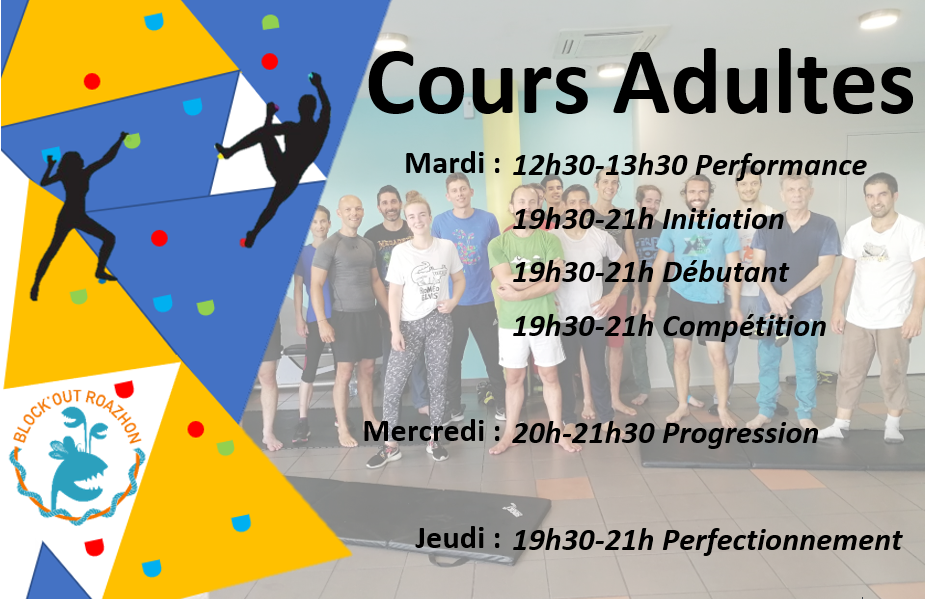 Inscription cours adultes